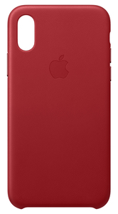 APPLE LEATHER CASE (PRODUCT)RED FOR IPHONE XS