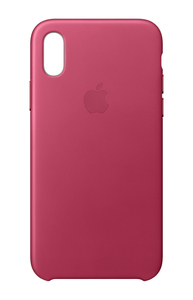 Apple Leather Case Pink Fuchsia for iPhone X