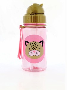 Skip Hop Zoo Straw Kids Water Bottle Leopard 350ml