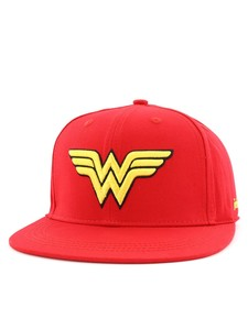 Wonder Woman Logo Flatbrim Cap Adult Red