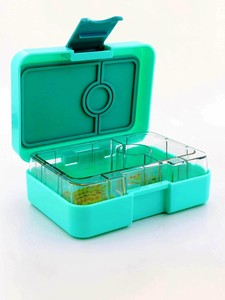 Yumbox Mini Snackbox Surf Green [3 Compartments]