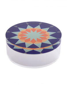 Silsal Nujoom Acrylic Flat Multi-colored Container [Small]