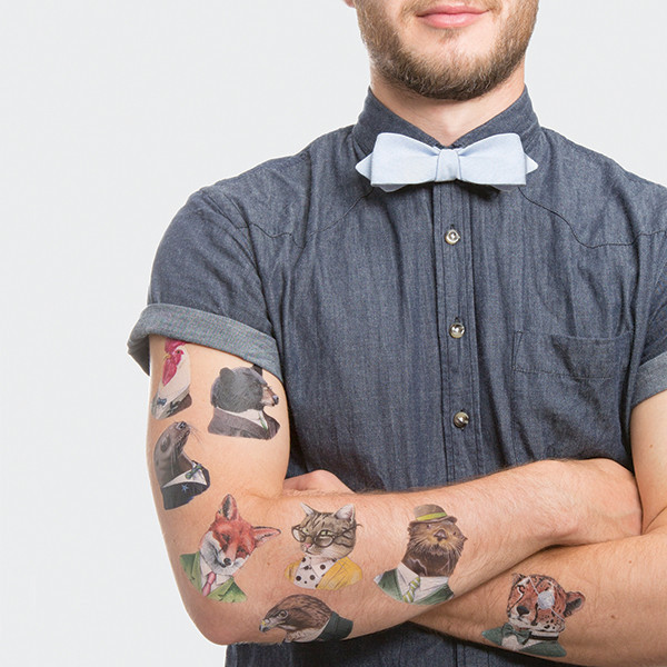 Tattly Animal Society Temporary Tattoo Set