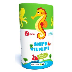 Shifu Boat Safari Educational Interactive AR Card Game for Kids