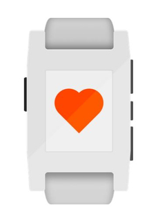 Pebble Discover White Smart Watch