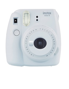 Fujifilm Instax Camera Mini9 Smoky White +Instax Mini Film Single Pack