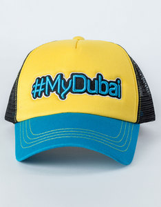 B180 #Mydubai8 Yellow/Blue/Black Unisex Cap