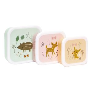 Petit Monkey Lunchbox Set Little Fawn