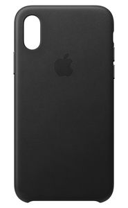 APPLE LEATHER CASE BLACK FOR IPHONE XS