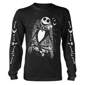 Nightmare Before Christmas Jack Crossed Arms Sleeve Men's T-Shirt Black
