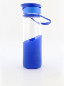 Aladdin Enjoy Glass Water Bottle 0.55L Blue