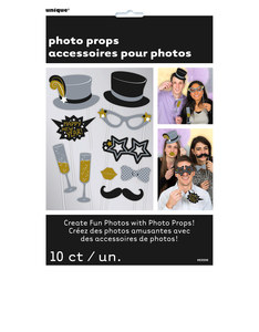 Unique New Year's Eve Photo Booth Props [Pack Of 10]