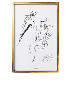 Bloomingville Sketched Woman 2 Frame Gold