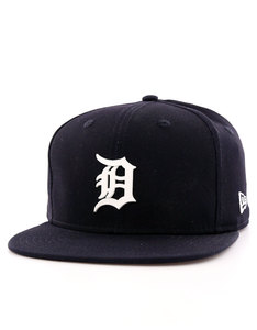 New Era MLB Rubber Badge Detroit Tigers White Cap