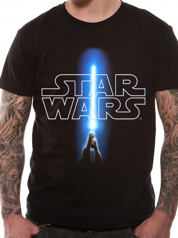 cid star wars logo saber black t shirt tops t shirts. Black Bedroom Furniture Sets. Home Design Ideas