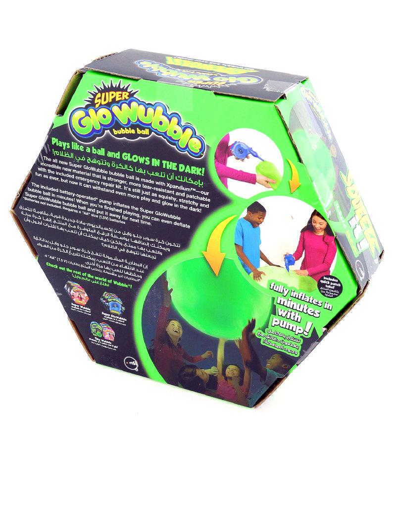 Wubble Bubble Super GloWubble Bubble Ball Glo Go Green With Pump
