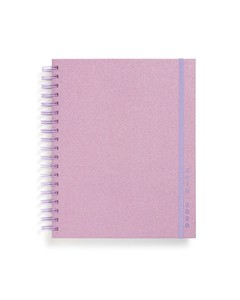 ban.do 17-Month Large Planner Lilac Glitter