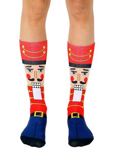 LIVING ROYAL NUTCRACKER WOMEN'S CREW SOCKS