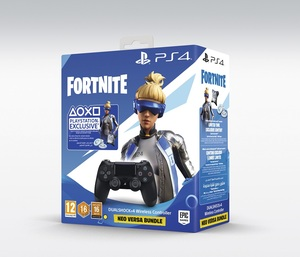 Sony DualShock 4 Black Controller + Fortnite Voucher 2019
