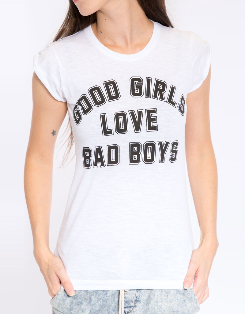 Good Girls Love Bad Boys White Women'S Basic Tee L