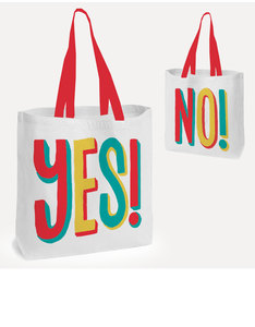 USTUDIO TOTE BAG YES NO