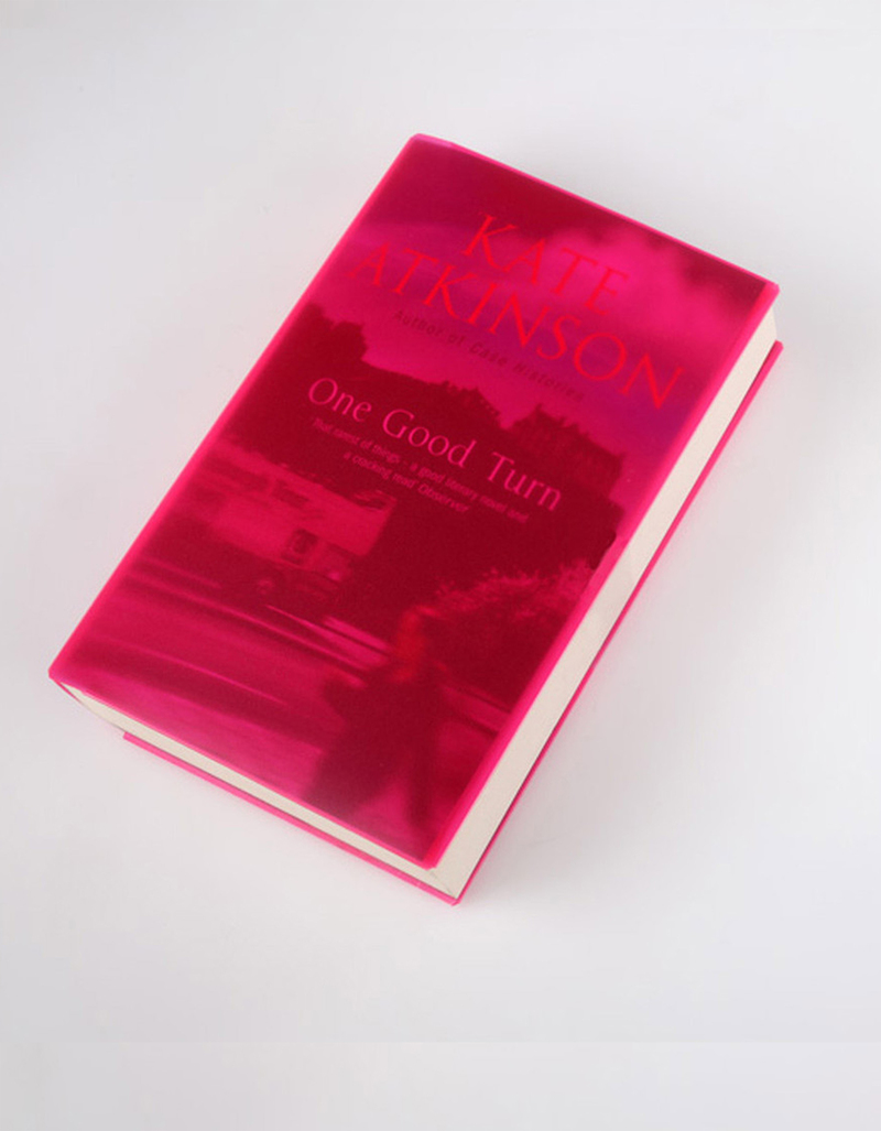 Coverup Pink Transparent Book Cover