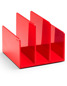 Poppin Inc Fin File Sorter Red