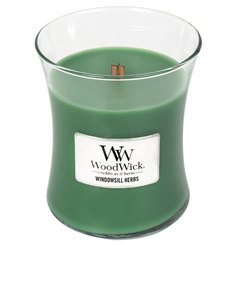 Woodwick Windowsill Herbs Green Medium Candle