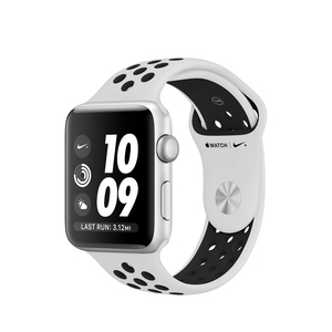 Apple Watch Nike+ 42mm Silver Aluminum Case With Pure Platinum/Black Nike Sport Band