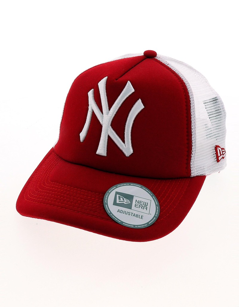 New Era Mlb Clean Trucker Ny Yankee Scarlet White 7 7 8 Cap 7cde78668e1b