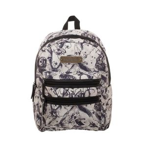 Bioworld Harry Potter Beasts All Over Print Double Zip Backpack