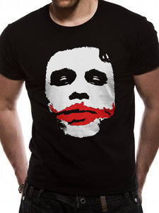CID Batman The Dark Knight Joker Big Face Men's T-Shirt Black M