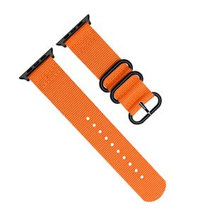 Promate Nylox-38 Orange Trendy Nylon Fiber with Metal Deployment Buckle for 38mm Apple Watch