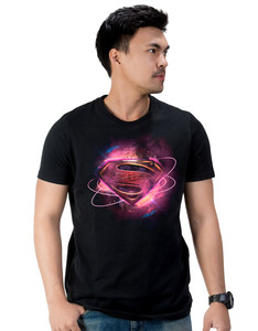 CID Justice League Movie Superman Symbol Black Unisex T-Shirt