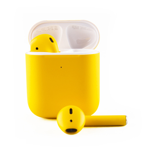 Craft Apple AirPods Gen 2 Yellow Matte with Charging Case