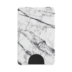 PopSockets Popwallet White Marble PopGrip
