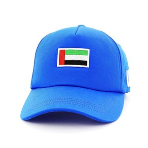 B180 UAE Flag8 Medium Unisex Cap Blue