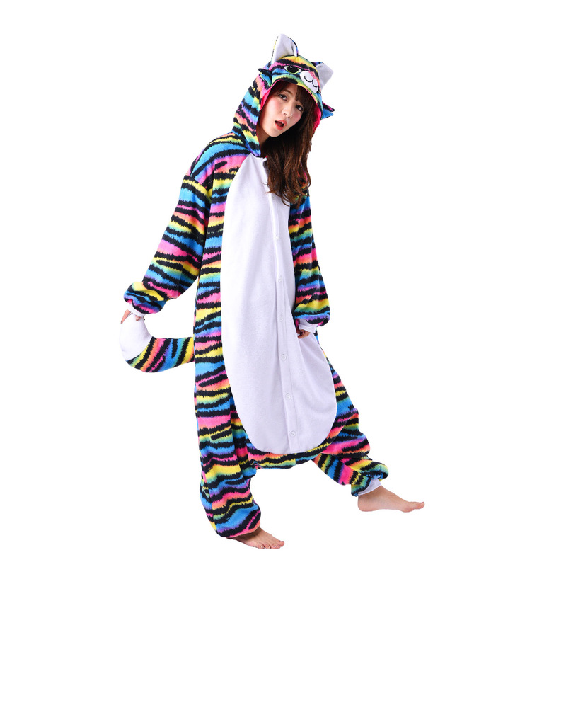 rave cat kigurumi adult fleece costume  costumes  dress