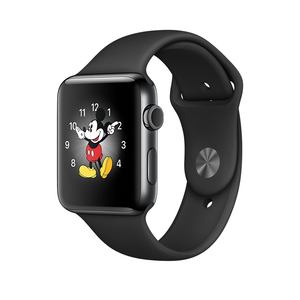 Apple Watch Series 2 42mm Space Black Stainless Steel Case Space Black Sport Band