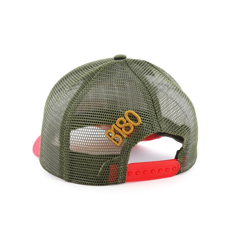 B180 Respect Flower Men's Cap Red/Green