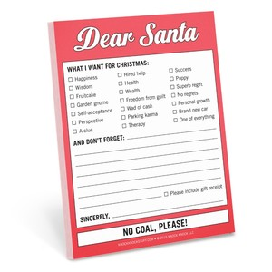 Knock Knock Nifty Dear Santa Sticky Notes