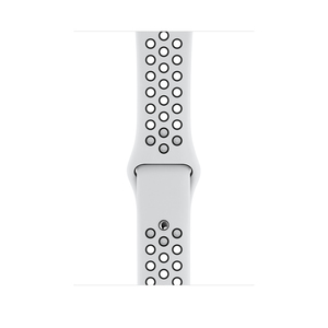 Apple 44mm Pure Platinum/Black Nike Sport Band for Apple Watch S/M & M/L