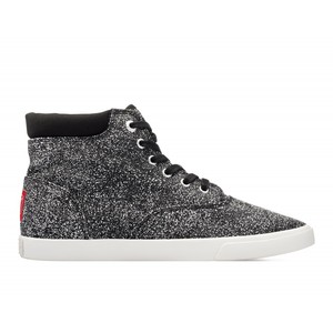 Bucketfeet The Shplinton Black Mid Top Women's Canvas Lace-Ups