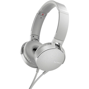 Sony MDR-XB550AP White Extra Bass Headphones