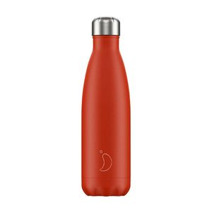 Chilly's Bottle Neon Red Water Bottle 500 ml