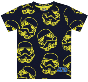 Star Wars Stormtrooper Repeat Print Navy Boys T-Shirt