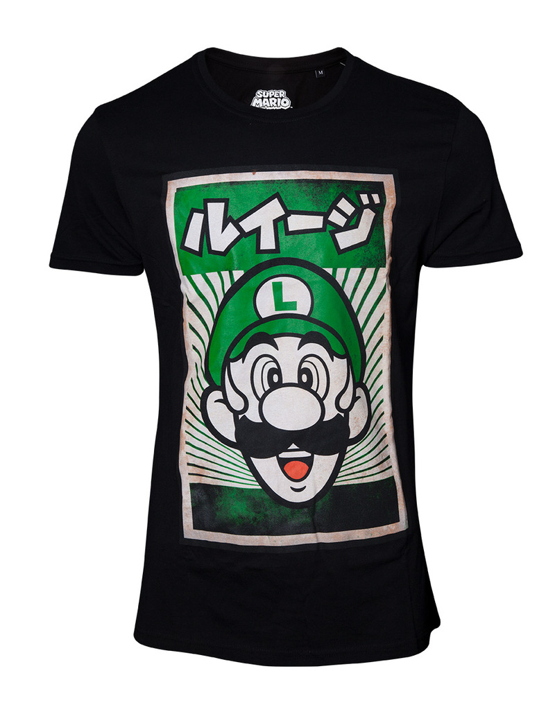 7d79c4ed2 Bioworld Nintendo Propaganda Luigi T-Shirt   Tops & T-Shirts   Men    Fashion   Virgin Megastore