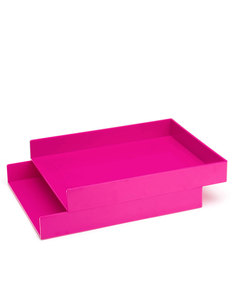 Poppin Inc Letter Trays Pink [Set of 2]