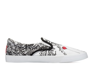 Bucketfeet The Old 98 Black/White Low Top Men's Canvas Slip-Ons