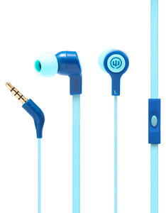Wicked Audio Jekyll Blue Moon With Mic Earbuds